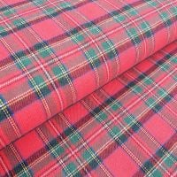 Tartan Flannel Cotton Fabric Red