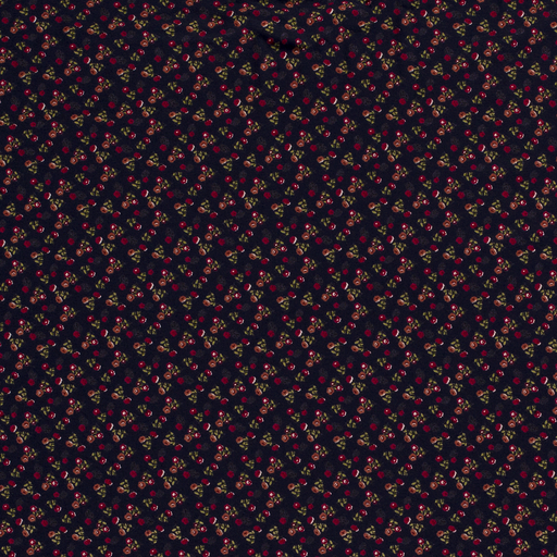 Viscose Jersey Fabric Dainty Flowers Navy