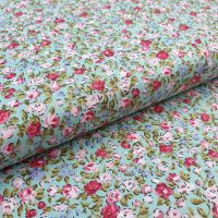 Cotton Fabric Mini Flowers Spearmint