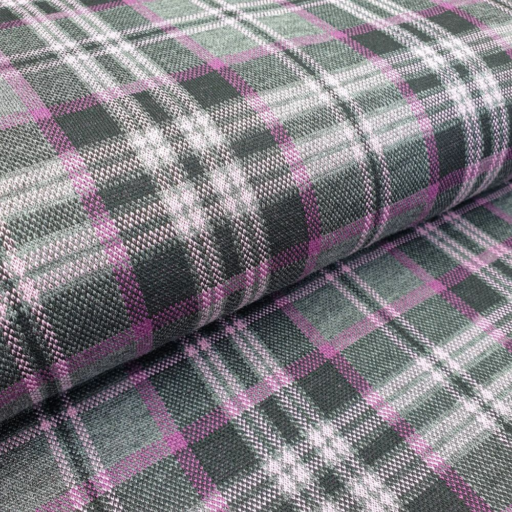 Stretch Knit Fabric Dusky Pink/Black/Grey