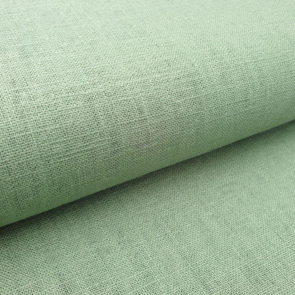 Linen Fabric Denim Moss Green