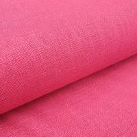 Linen Fabric Raspberry Red