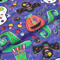 Cotton Fabric Halloween Spooky Boo