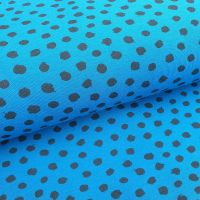 Cotton Jersey Fabric GOTS Spots Petrol