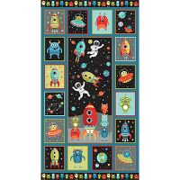 Makower Space Cotton Fabric Space Panel