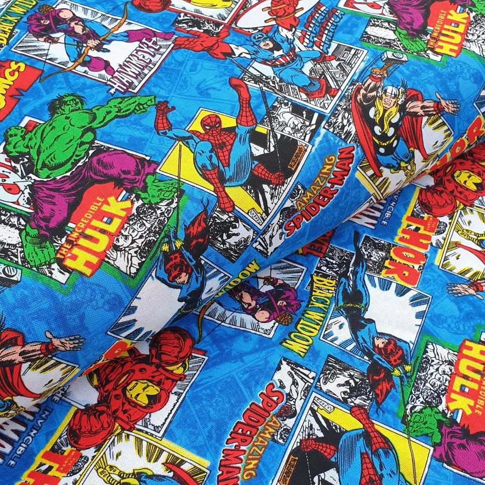Marvels Comic Cotton Fabric