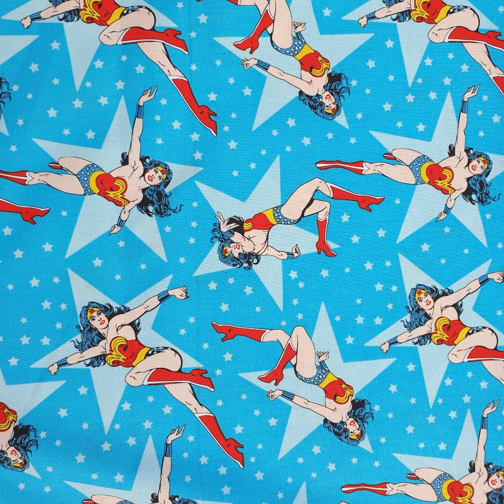 Girl Power Wonder Women Cotton Fabric