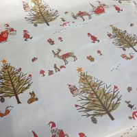 Oilcloth Cotton Fabric Christmas Wonderland