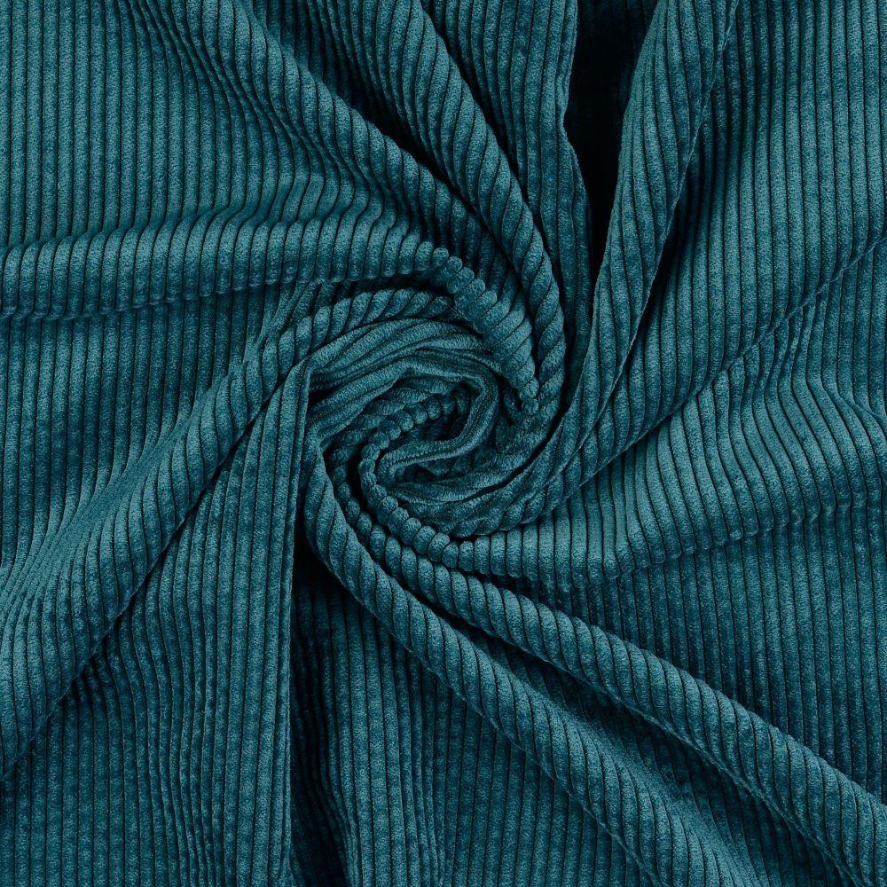 Soft Corduroy Stretch Fabric  Emerald