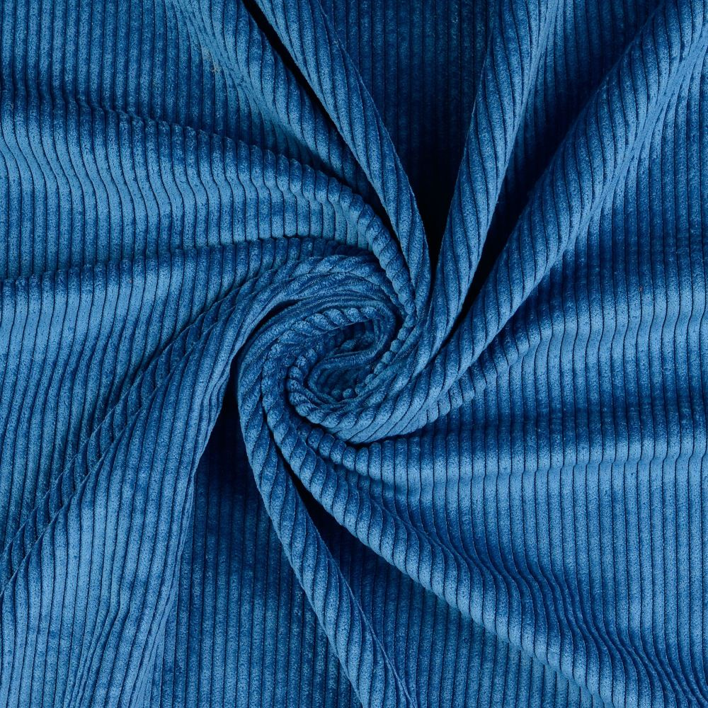 Soft Corduroy Stretch Fabric Teal