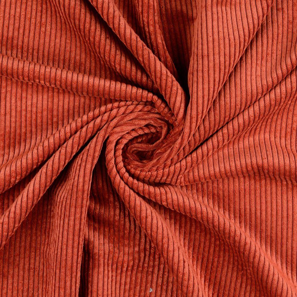 Soft Corduroy Stretch Fabric Terracotta