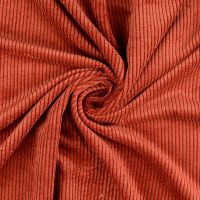 Soft Corduroy Stretch Fabric Terracotta