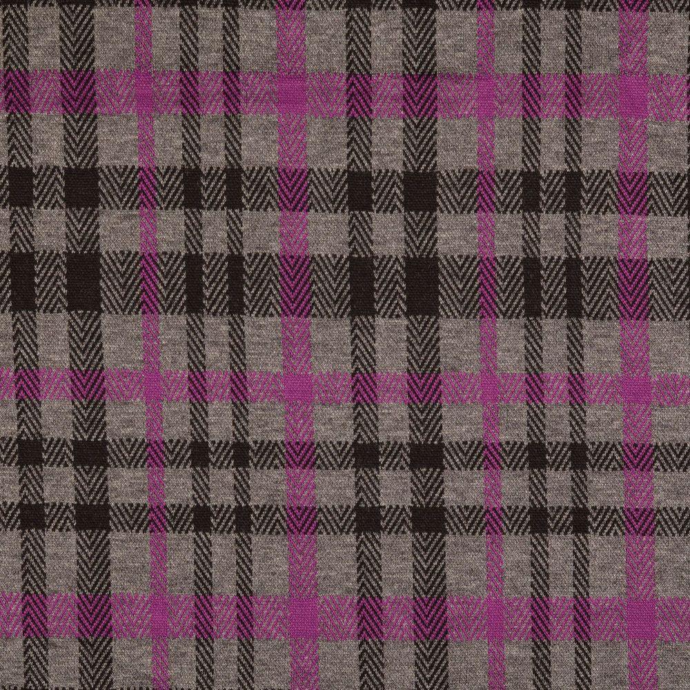 Stretch Knit Fabric Pink/Grey