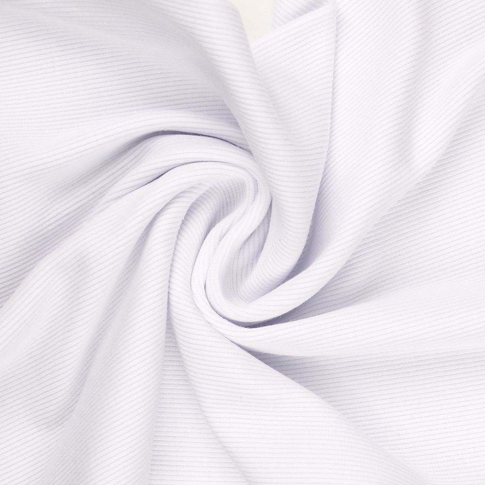 Tubular Ribbing Fabric White