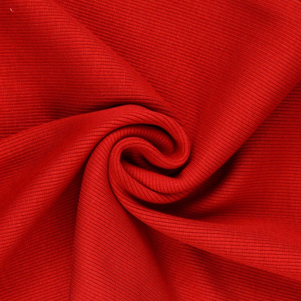 Tubular Ribbing Fabric Red