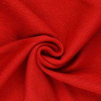 Tubular Ribbing Fabric Red