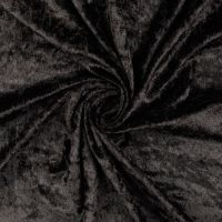 Crushed Velour Fabric Black