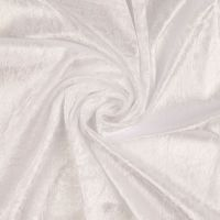 Crushed Velour Fabric White