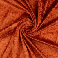 Crushed Velour Fabric Rust