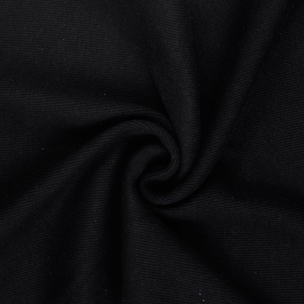 Tubular Ribbing Fabric Black