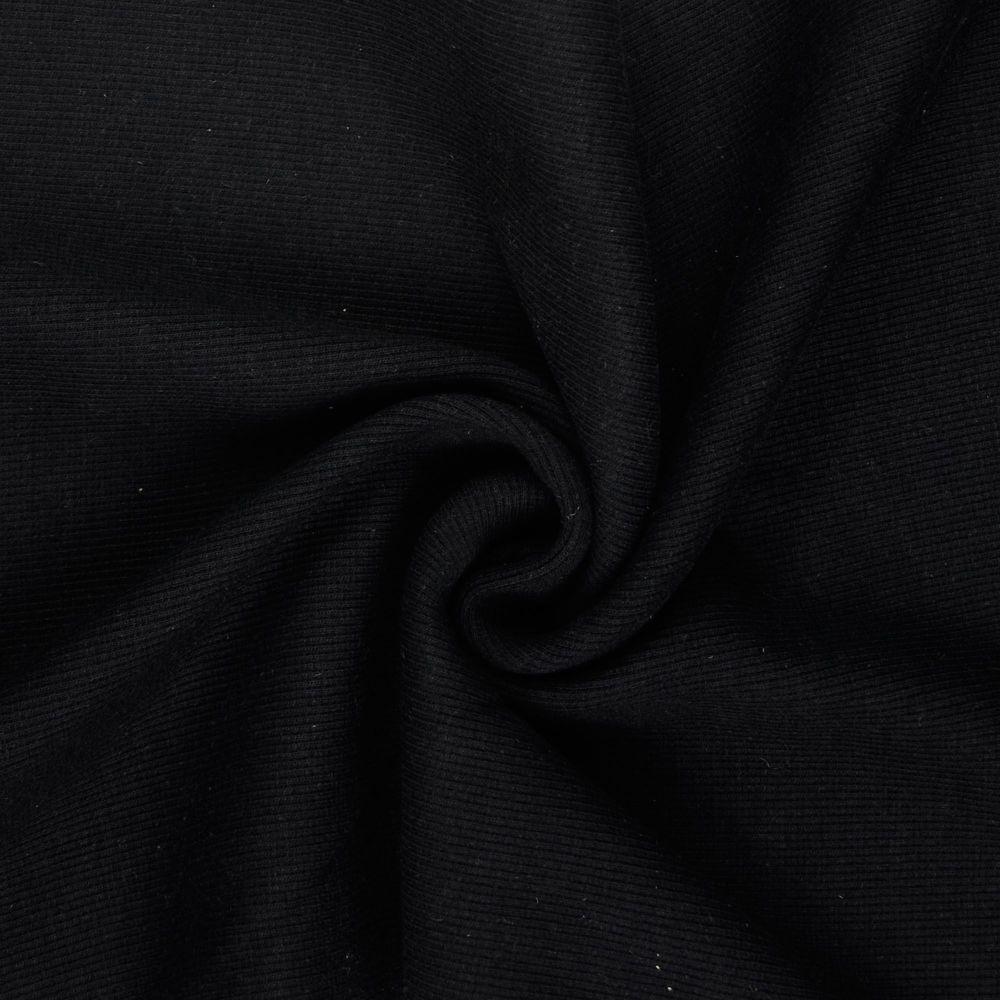 Tubular Ribbing Fabric Black