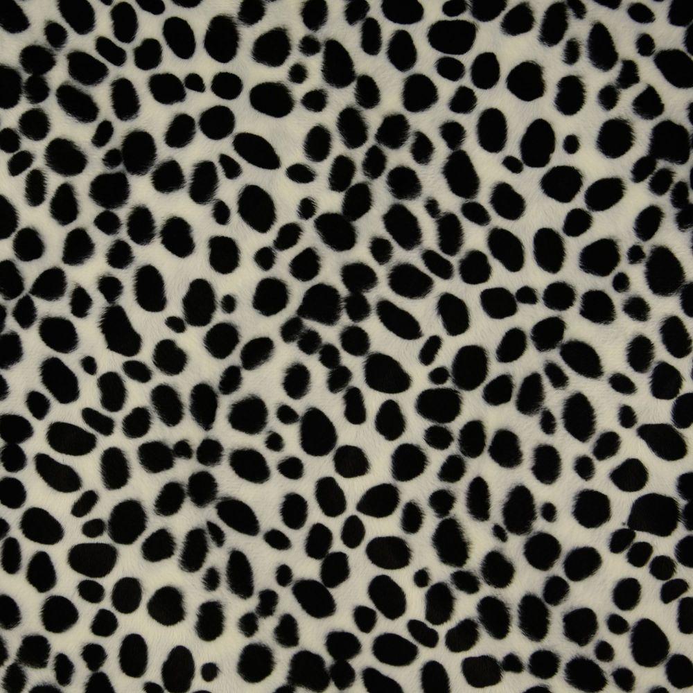 Faux Fur Fabric Dalmatian Print