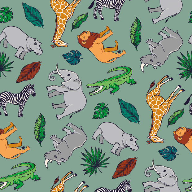 Cotton Poplin Safari Animals