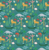 Dashwood Studio Habitat Jungle Animal Teal