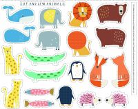 Dashwood Studio Habitat Cut And Sew Animals