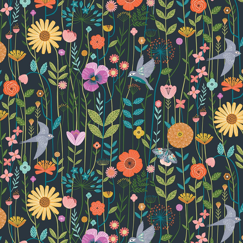 Dashwood Studio Aviary Stem Flowers Slate