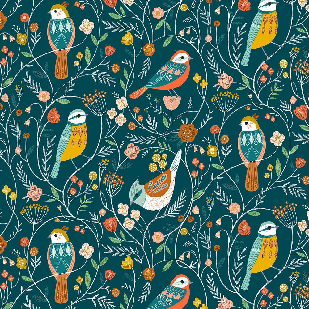 Dashwood Studio Aviary Birds Teal