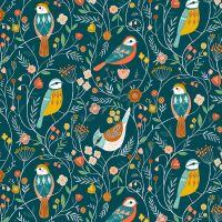 Dashwood Studio Aviary Birds Teal