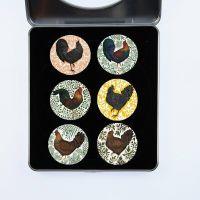 Pattern Weights Chickens 40mm