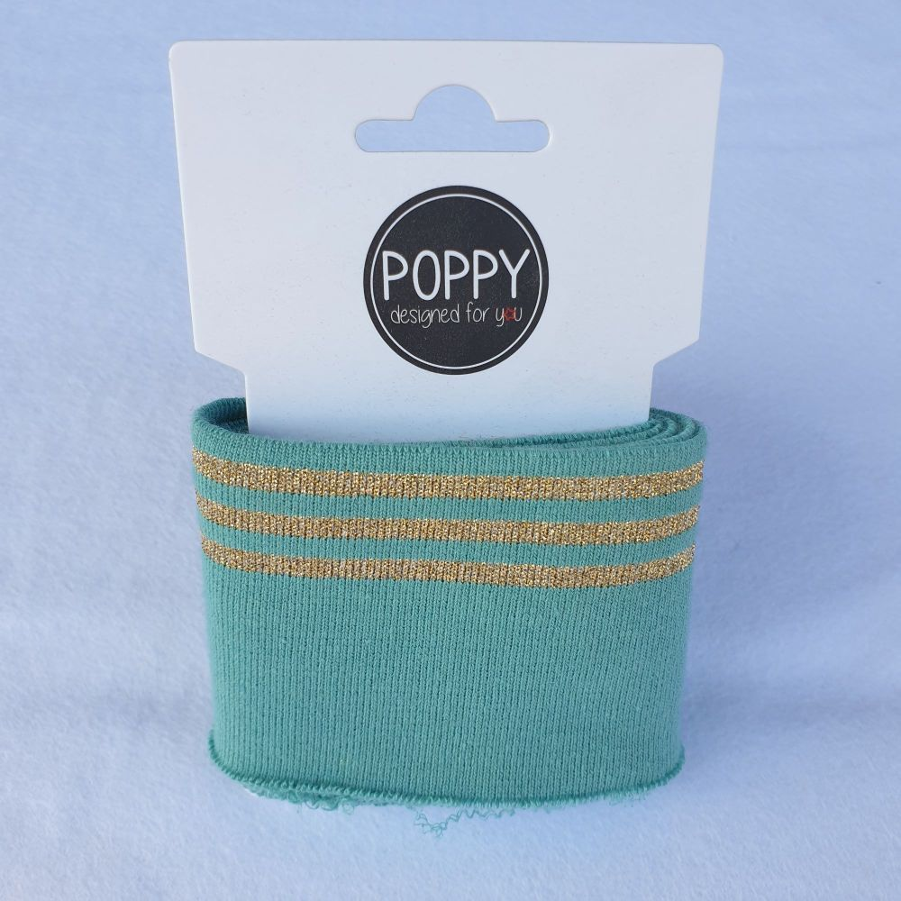 Cuffs Gold Stripe Mint