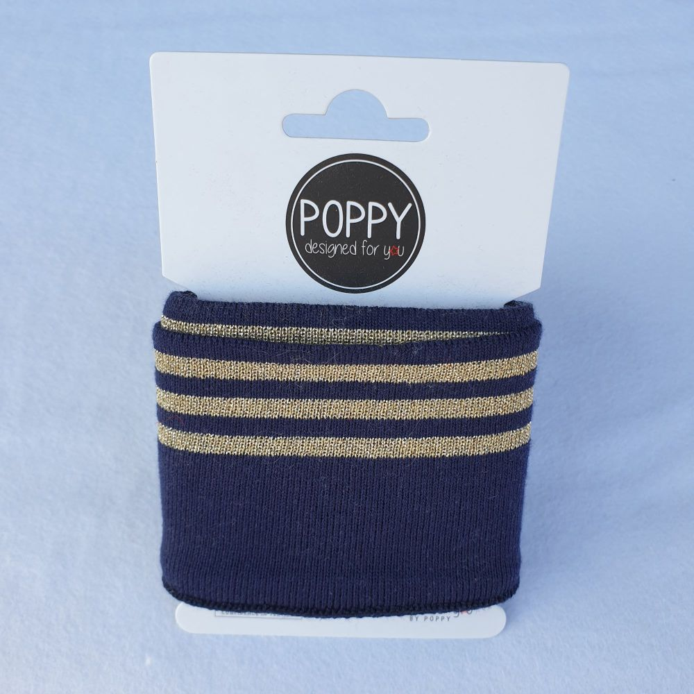 Cuffs Gold Stripe Navy