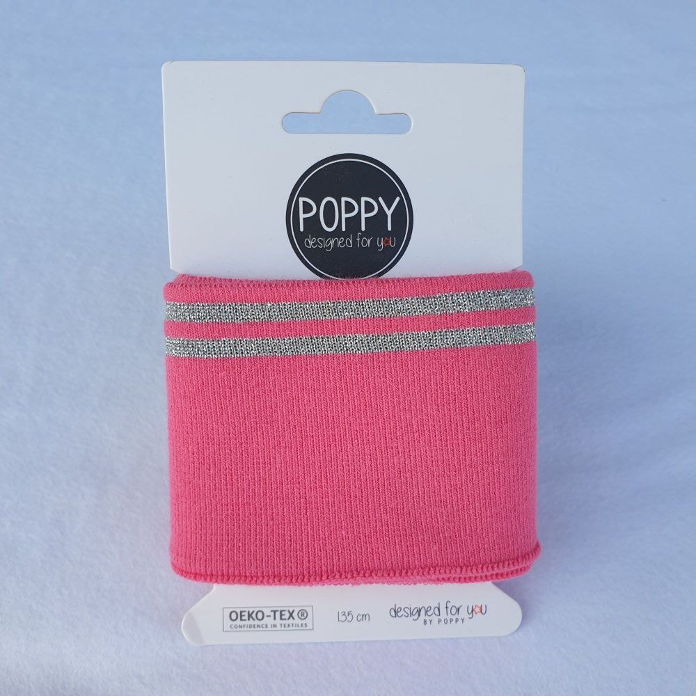 Cuffs Gold Stripe Pink