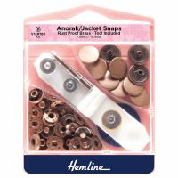 Hemline Anorak/Jacket Snaps Bronze 15mm