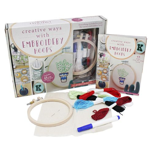 Creative Ways With Embroidery Hoops Kit