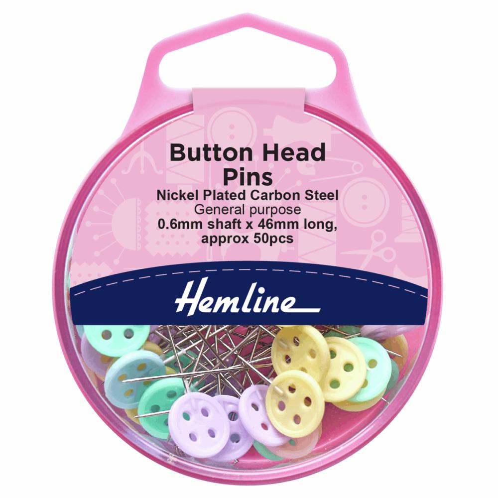 Hemline Button Head Pins
