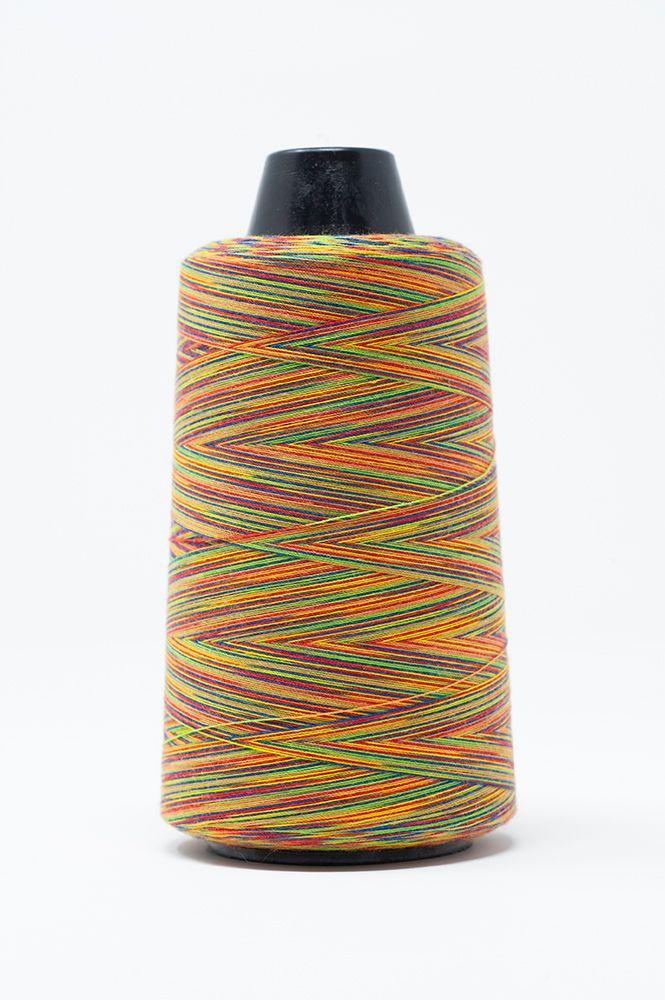 Rainbow Overlock Threads Red/Orange/Blues 3000mt