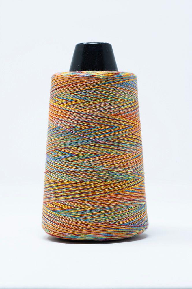 Rainbow Overlock Threads Col C Turq/Red/Orange 3000mt