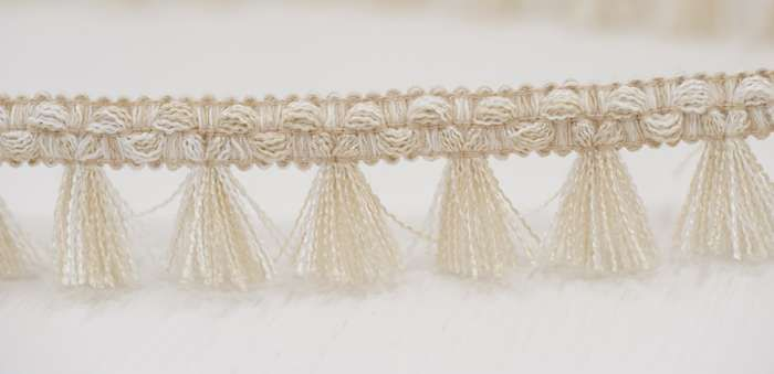 Filigree Tassel Fringe 30mm Natural