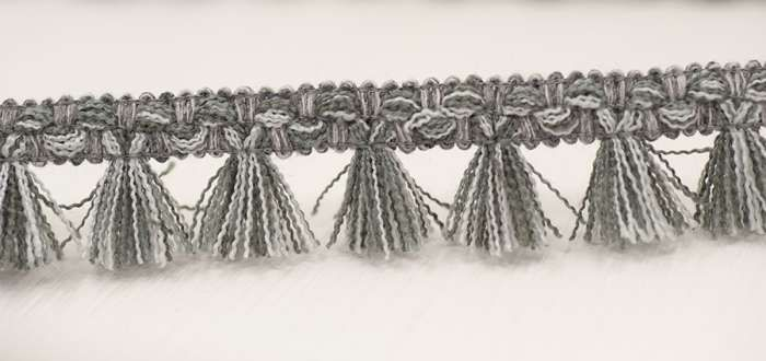Filigree Tassel Fringe 30mm Slate