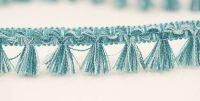 Filigree Tassel Fringe 30mm Turquoise