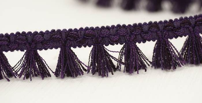 Filigree Tassel Fringe 30mm Plum