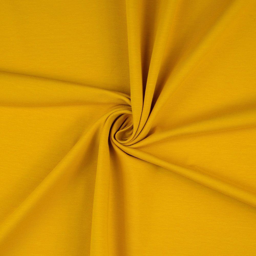 Cotton Jersey Fabric Mustard