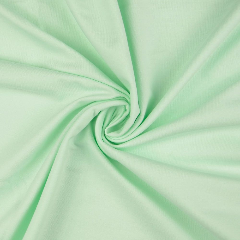 French Terry Plain Fabric Soft Mint