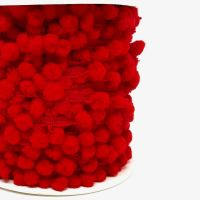 Pom-Pom Trim 15mm Red