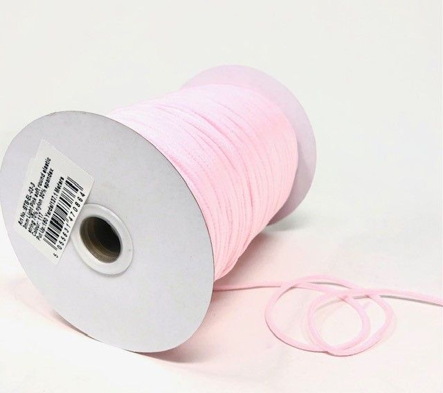 3mm Soft Round Elastic Light Pink