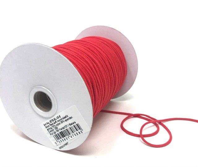 3mm Soft Round Elastic Red